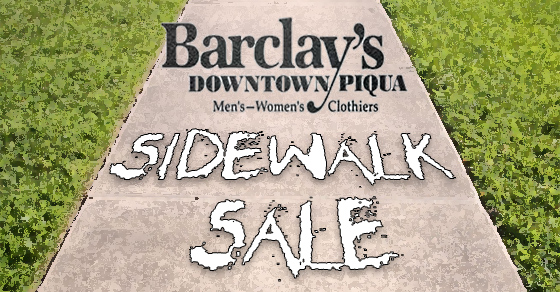 Barclay's 2016 Sidewalk Sale is July 15th – 16th!
