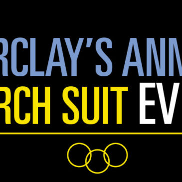 Take Home the Gold at Barclay's Annual March Suit Event!