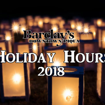 Barclay's Holiday Hours | 2018