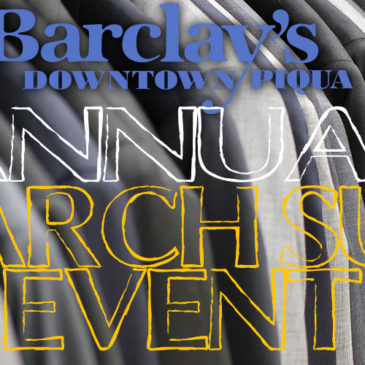 Give your wardrobe a promotion during the March Suit Sale at Barclay's!